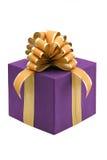 有丝带弓的礼物盒 库存照片