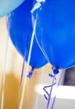 有丝带的气球 免版税图库摄影