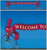 有丝带的矮子骑自行车者 免版税库存照片