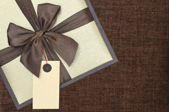 有丝带的礼物盒 库存照片