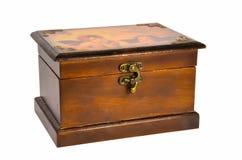 有两个天使的美丽的木箱 库存照片