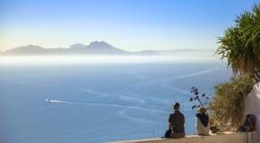 有两个恋人的迦太基的港口,迦太基,突尼斯 库存图片
