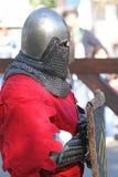 有中世纪的骑士休息 免版税库存照片
