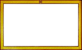 有中国式边界的,木制框架白板 库存图片