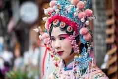 有中国歌剧传统礼服和构成的妇女 库存图片