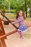 有乐趣的女孩少许纵向 免版税库存照片