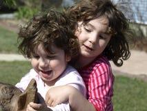 有乐趣的女孩 库存图片