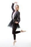 有书的企业芭蕾舞女演员 免版税库存照片