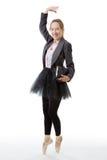 有书的企业芭蕾舞女演员 免版税库存图片