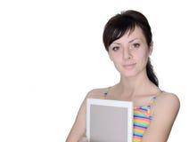 有书的俏丽的学员 免版税库存照片