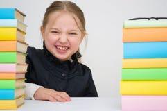 有书的女孩 库存照片