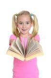 有书的女孩 图库摄影