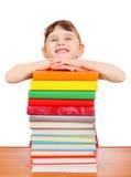 有书的小女孩 图库摄影