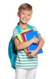 有书的小男孩 图库摄影