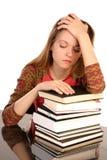 有书的3女孩 免版税库存图片