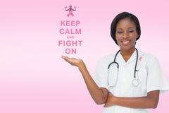 有乳腺癌了悟消息的医生 免版税库存图片