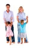 有二子项的家庭 免版税库存照片