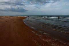 有云彩的海 库存照片