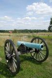 有云彩的葛底斯堡大炮 免版税库存图片