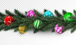 有五颜六色的中看不中用的物品的透明圣诞节诗歌选 皇族释放例证