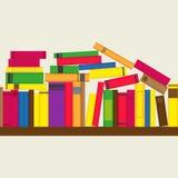 有五颜六色的书的书架 库存例证