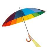 有五颜六色的伞的手 库存照片