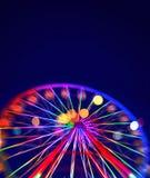 有五颜六色的光的Defocused弗累斯大转轮 免版税库存照片