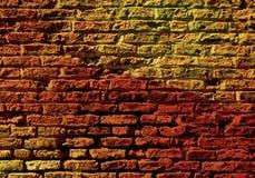 有五颜六色的样式的砖墙 向量例证