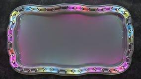 有五颜六色的电灯泡的3D空白的委员会回报 库存例证
