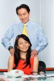 有亚裔的同事办公事件 免版税图库摄影