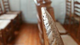 有些椅子在教会里 库存照片