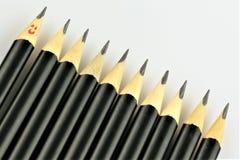 有些铅笔的概念图象-有拷贝空间的 免版税库存照片