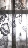 有交叉的窗帘 图库摄影