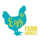 黑有产品字法的鸡动物电路 库存照片
