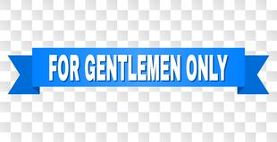 有仅先生们文本的蓝色磁带 皇族释放例证