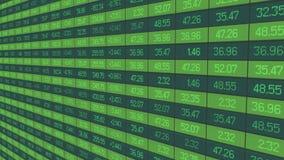 有价证券交易统计,在股市板的股票行市指数更新 库存照片