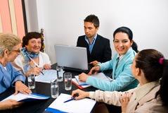 有企业的交谈会议人 免版税库存照片