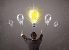 有企业的人想法电灯泡概念 免版税库存照片