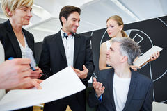 有企业的论述办公室小组 免版税库存图片