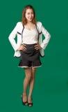 有企业穿戴行动的亚裔泰国夫人官员 图库摄影