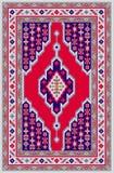 有伊朗全国样式的传染媒介地毯 向量例证