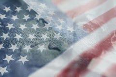 有优质的美国国旗的美国总统安德鲁・约翰逊 免版税库存图片
