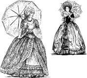 有伞的夫人 库存例证