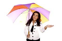有伞的妇女。 免版税图库摄影
