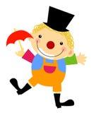 有伞的小丑 库存照片
