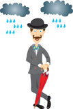 有伞的英国绅士 免版税库存图片