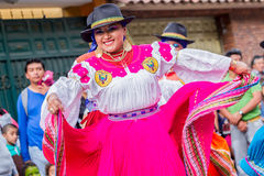 有传统民间服装的土产妇女 库存照片