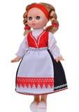 有传统衣裳的挪威玩偶 库存图片
