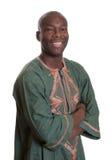 有传统衣裳的聪明的非洲人 库存图片