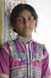 有传统Jewelery的女孩 库存照片